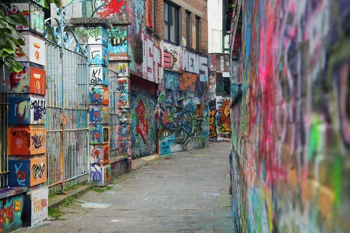 Vinylová Tapeta Barevné graffiti - Evropa