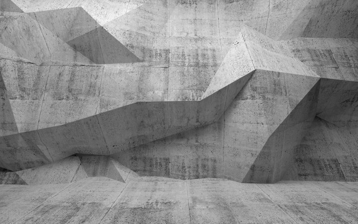 fototapete abstrakter 3d raum aus dunklem beton pixers wir leben um zu ver ndern. Black Bedroom Furniture Sets. Home Design Ideas