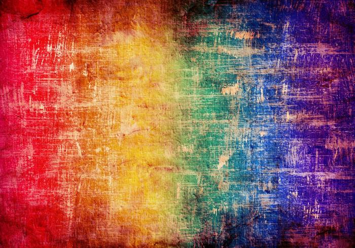 Vinylová Tapeta Abstraktní grunge pozadí v barvách duhy - Pozadí