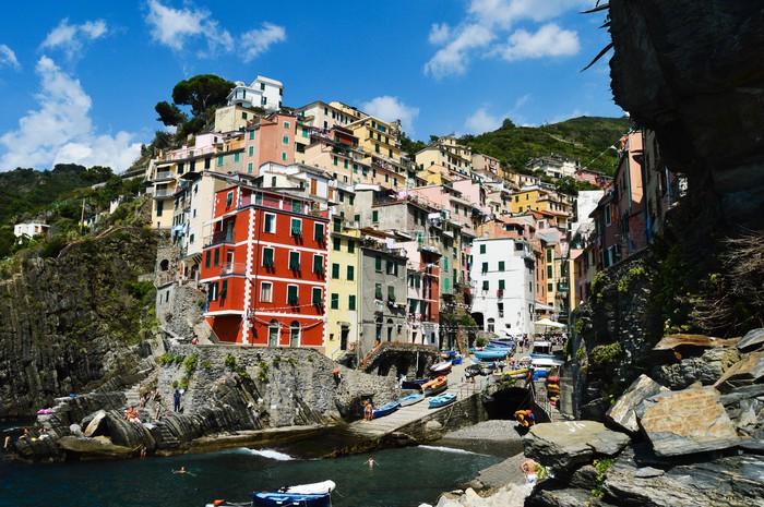 Mediterrane Architektur fototapete traditionelle mediterrane architektur riomaggiore