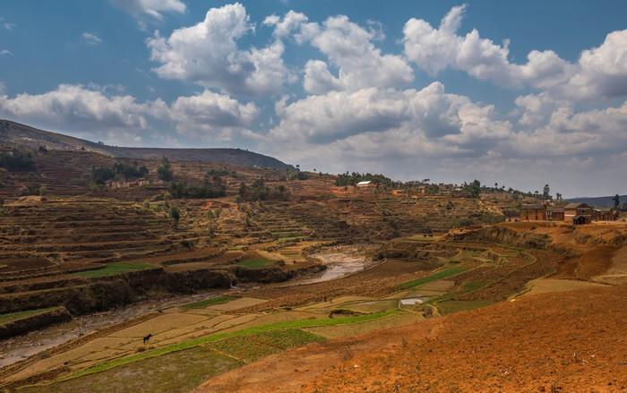 Vinylová Tapeta Madagaskarská vysočina krajina - Venkov