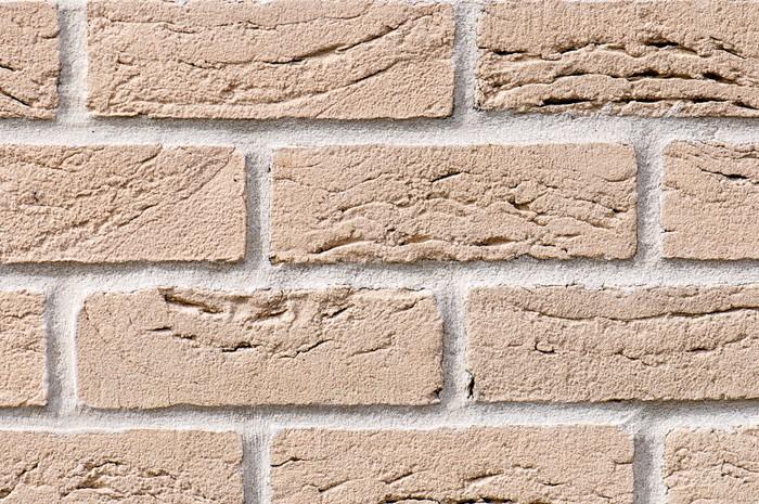 Vinylová Tapeta Okrové cihlové zdi na pozadí nebo textury - Těžký průmysl