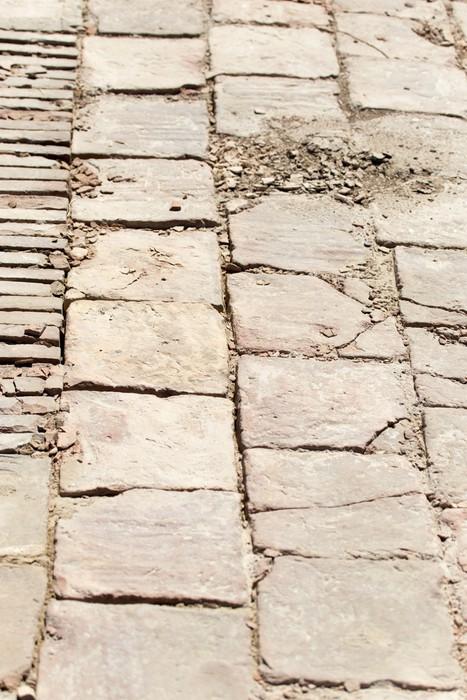 Vinylová Tapeta Kamenné dlaždice starého města Sauran, Kazachstánu. - Přírodní krásy