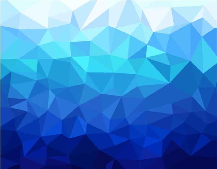 Fondo Geométrico: Póster Fondo Azul Geométrica • Pixers®
