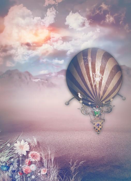 Vinylová Tapeta Montgolfier v pustině - Pouště