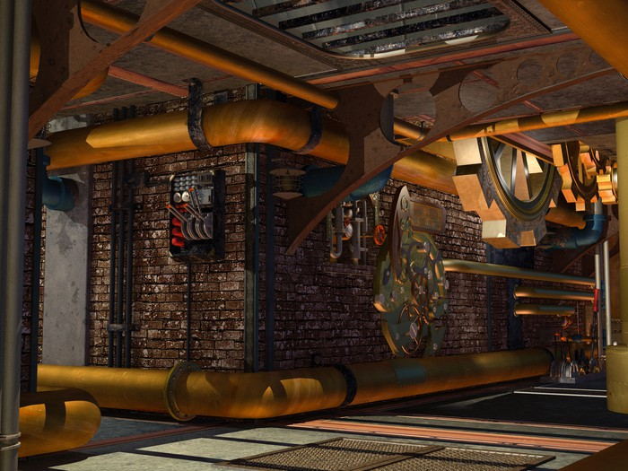 Steampunk Construction Wall Mural Pixers 174 We Live To