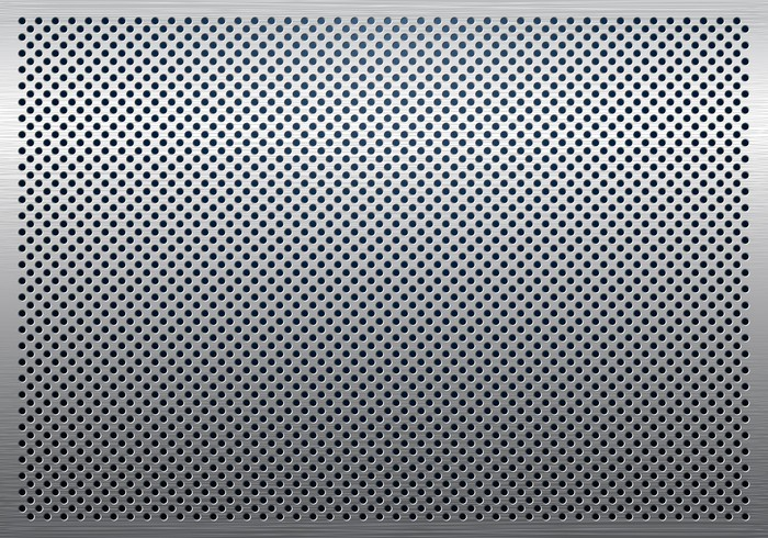 Gray Metal Background Perforated Metal Texture Wall Mural