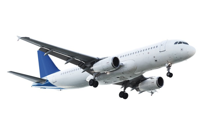 Papier Peint à Motifs Vinyle Véritable avion à réaction - Dans les airs