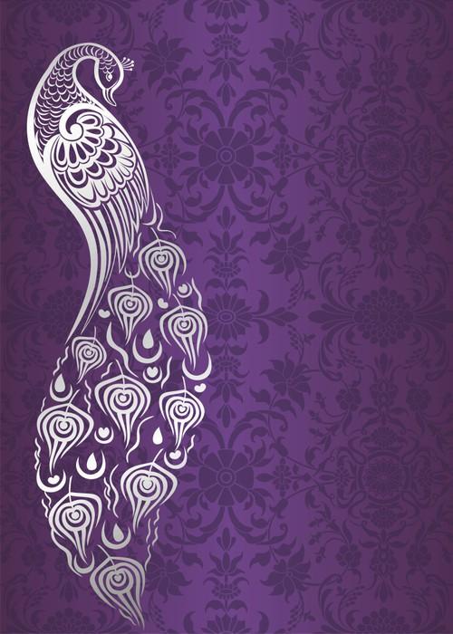 Vinylová Tapeta Páv, design svatební oznámení, královský Indie - Styly