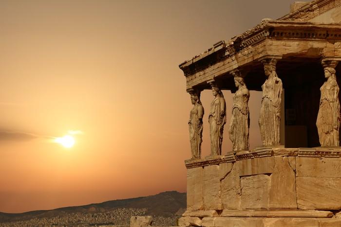 Vinylová Tapeta Caryatids na aténské Akropoli při západu slunce, Řecko - Styly