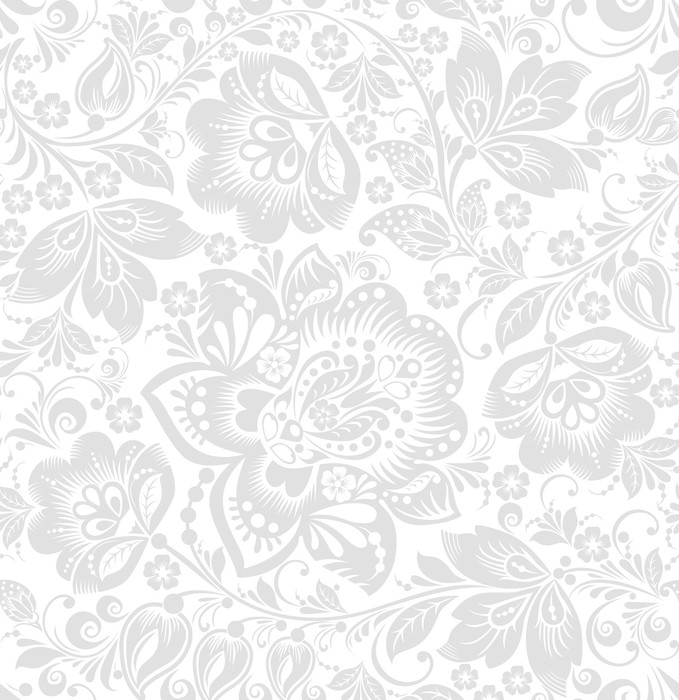 Vector seamless floral background wall mural pixers for Mural vector