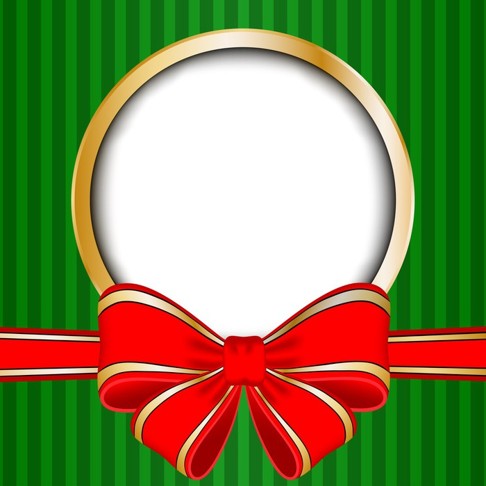 leinwandbild weihnachts rahmen mit roter schleife und platz f r ihren text pixers wir leben. Black Bedroom Furniture Sets. Home Design Ideas