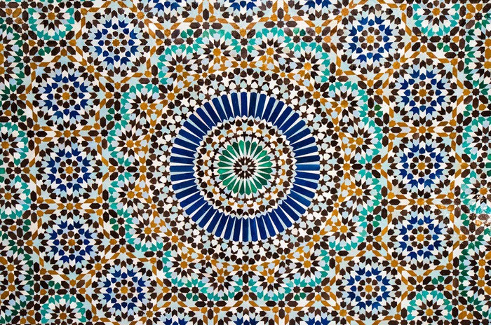 Vinylová fototapeta Marocké vintage dlaždice na pozadí - Vinylová fototapeta