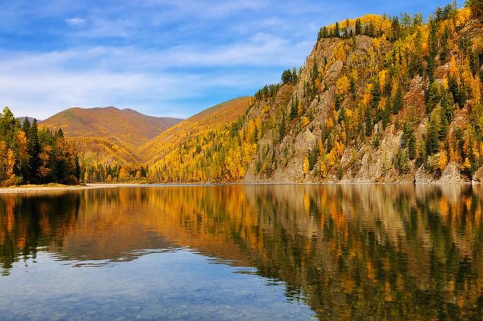 Vinylová Tapeta Barevné podzimní krajina - Roční období