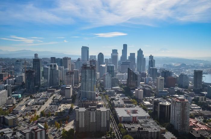 Vinylová Tapeta Downtown Seattle - Americká města
