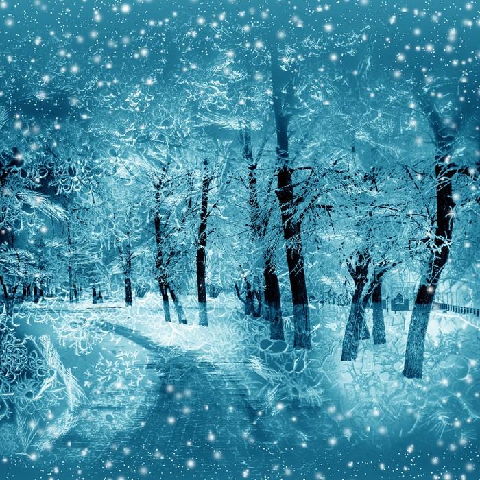 Nálepka Pixerstick Zima, příroda - Styly