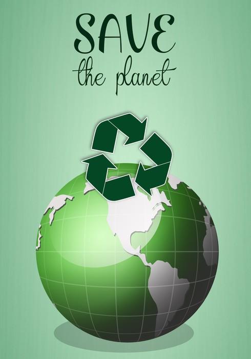 Vinylová Tapeta Zelená země pro zachránit planetu - Ekologie