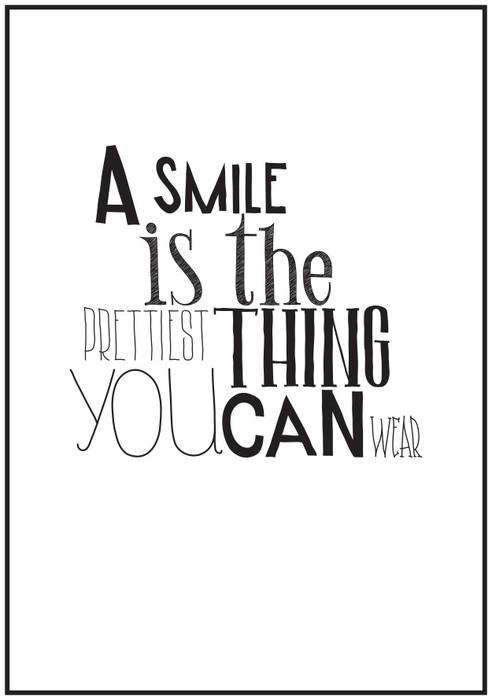 Papier Peint Vinyle Simple affiche en noir et blanc avec une expression de motivation -