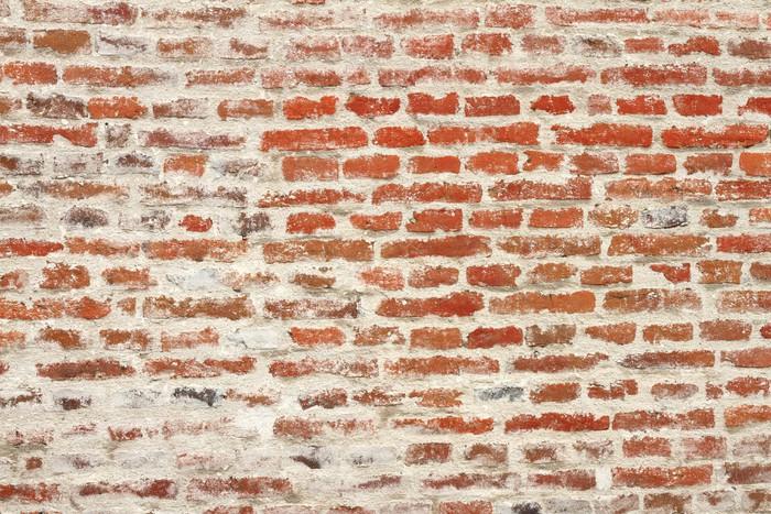 Carta da parati alterate muro di mattoni rossi pixers for Carta da parati muro di mattoni