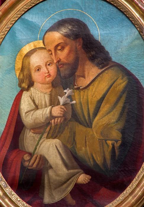Vinylová Tapeta Padua - Světec Josef s dítětem - baziliky del Carmine - Evropa