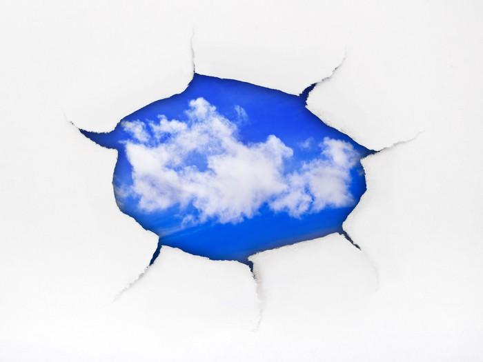 Vinylová Tapeta Hole a nebe papír - Nebe