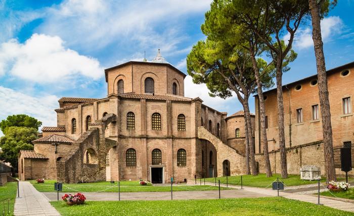 Vinylová fototapeta Slavný Basilica di San Vitale v Ravenna, Itálie - Vinylová fototapeta