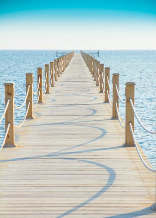 Vinylová Tapeta Pier v nebesky modrého Place - Voda