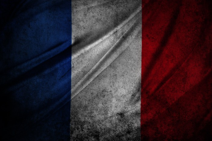 Vinylová Tapeta Grunge francouzské vlajky - Témata