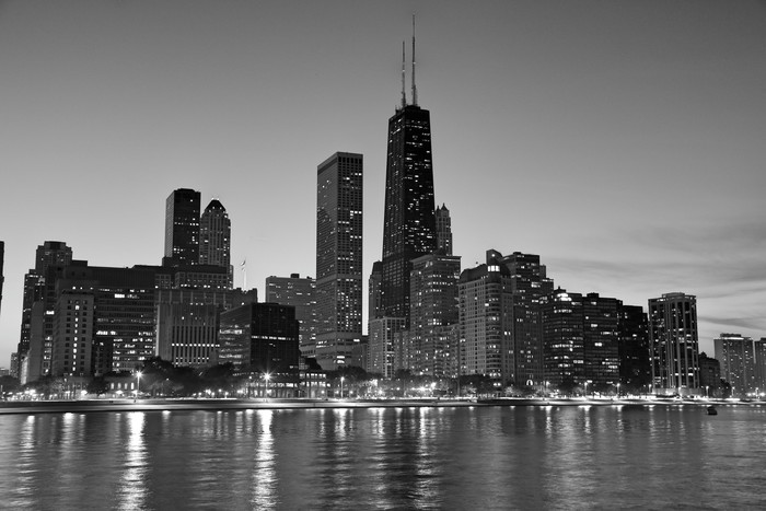 Chicago North Side At Dusk Wall Mural Pixers 174 We Live