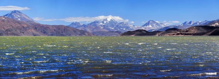 Vinylová Tapeta Zelená laguna (Laguna Verde), vulkán Pissis, Catamarca, Argentin - Amerika
