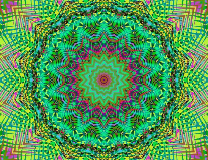 Sticker Natuur kleuren mandala • Pixers® - We leven om te veranderen