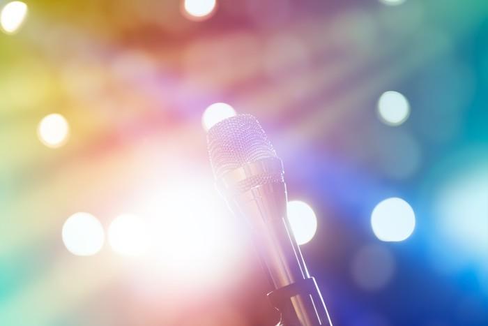 Vinylová Tapeta Mikrofon na jevišti - Hudba