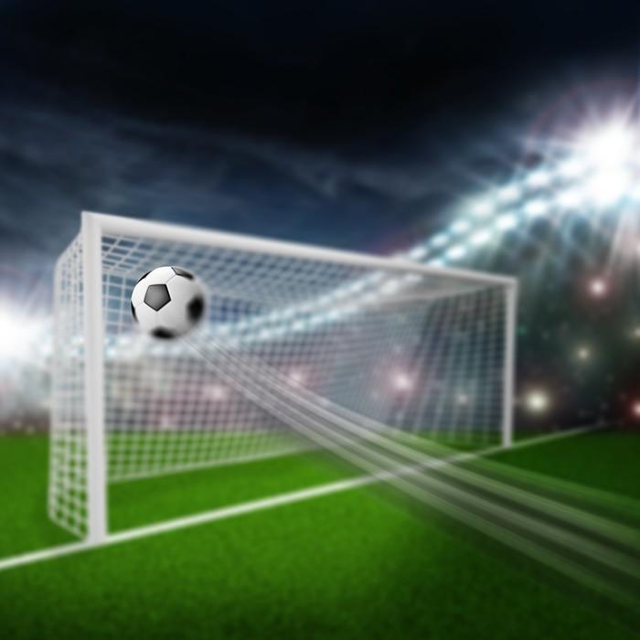 Vinylová Tapeta Fotbalový míč do branky - Sportovní potřeby