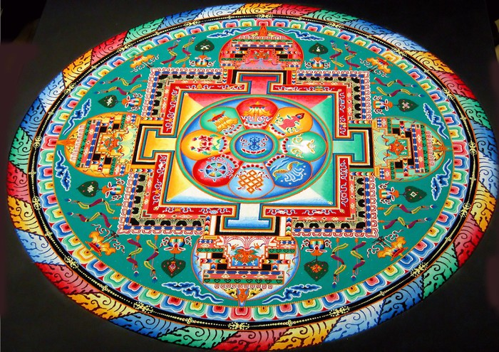 Tibetan Mandala Vinyl Wall Mural