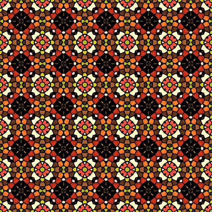 Vinylová Tapeta Barevná mozaika pozadí ve stylu kaleidoskop - Značky a symboly