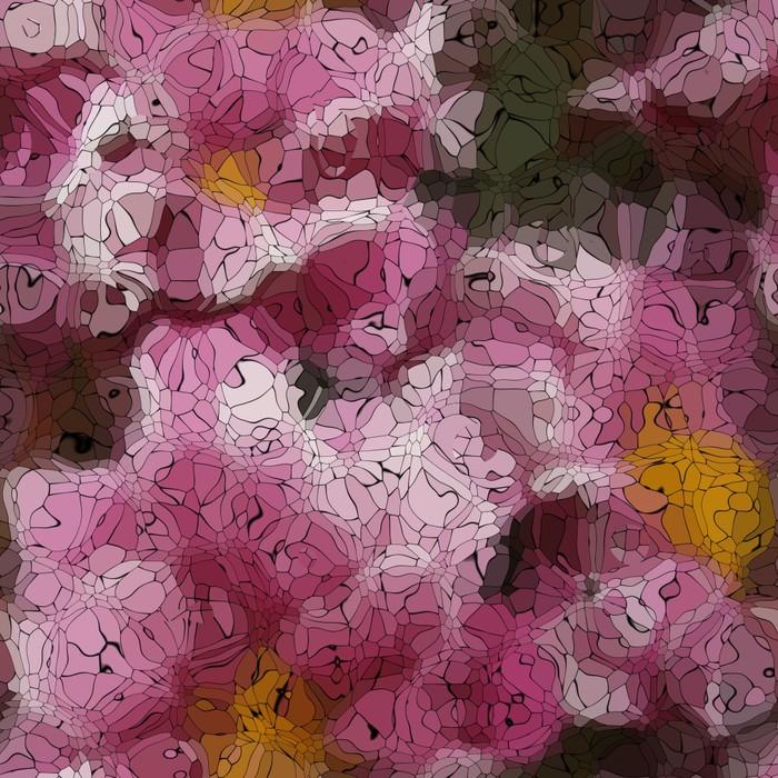 Vinylová Tapeta Flower graffiti mozaika generované textury - Pozadí