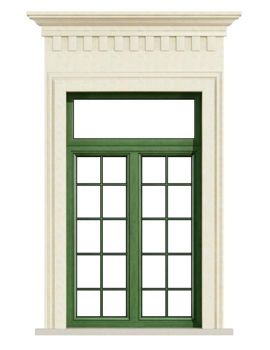 Sticker fen tre balcon classique avec portail en pierre for Fenetre balcon
