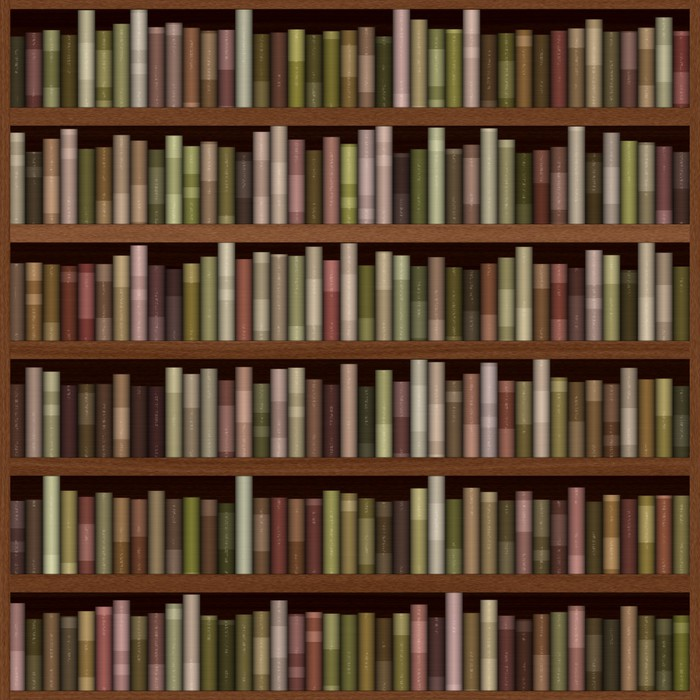 Bookshelf generated hires texture wall mural pixers for Bookshelf wall mural