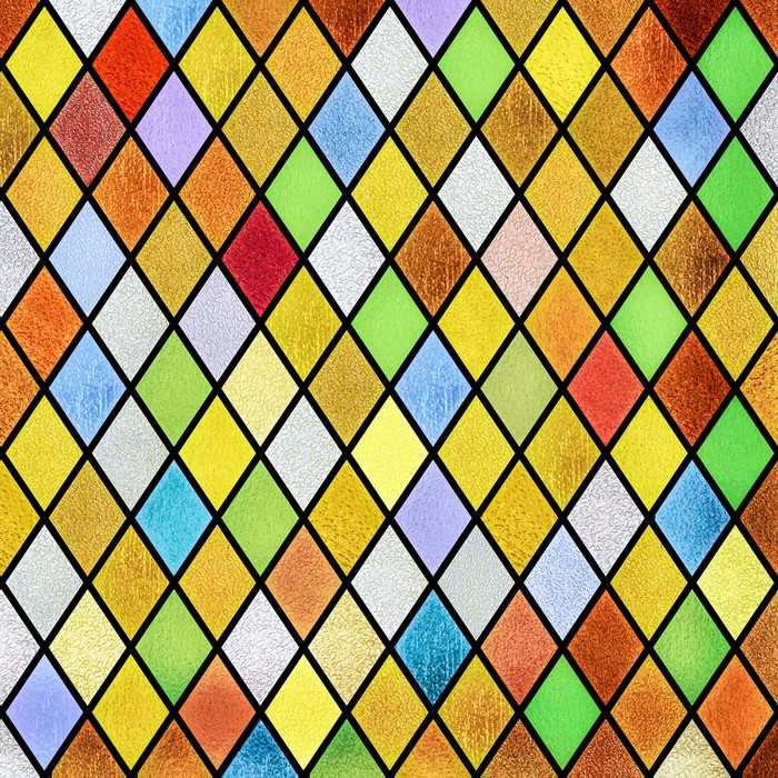 Colorful Abstract Stained Glass Window Background Wall