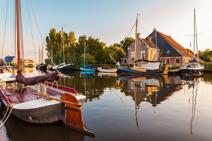 Vinylová Tapeta Plachetnice v holandské provincii Friesland - Evropa