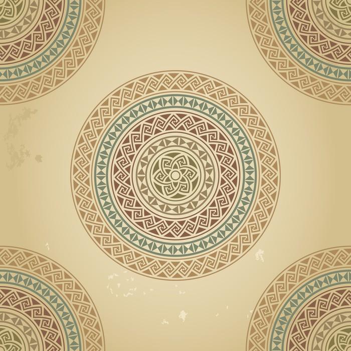 Vinylová Tapeta Vintage vzor s etnické ornament na pozadí grunge - Pozadí