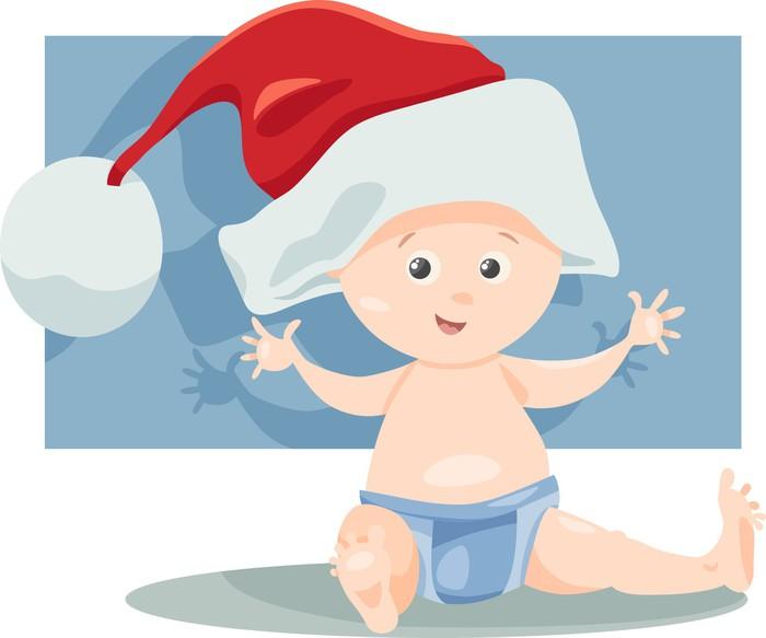 Quadro su tela neonato il babbo cartone animato pixers