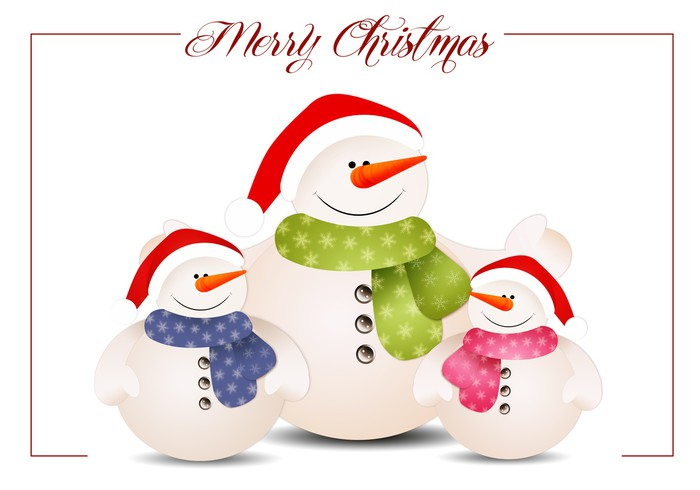 Vinylová Tapeta Funny rodina sněhuláka na Vánoce - Mezinárodní svátky