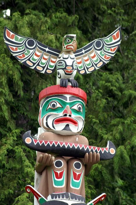 Papier Peint Vinyle Totem Pole - Monuments