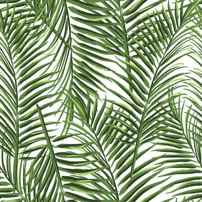 Tropical Palm Leaves Pattern Poster