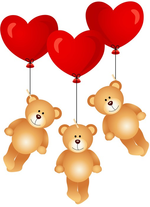 fototapete teddyb ren mit herz ballons fliegen pixers wir leben um zu ver ndern. Black Bedroom Furniture Sets. Home Design Ideas