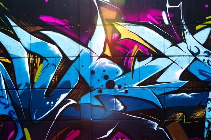 Fototapete Street art graffiti • Pixers® - Wir leben, um