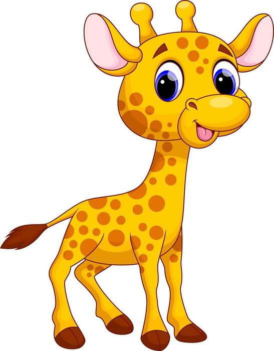 Fotomural linda jirafa de dibujos animados pixers - Cartone animato giraffe immagini ...