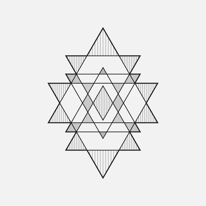 Poke Live Dcf Shapes: Geometric Shapes, Line Design, Triangle Canvas Print