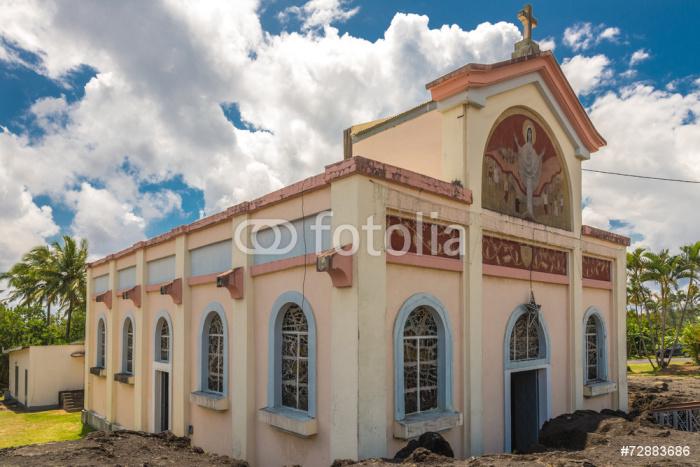 """Vinylová Tapeta Church """"Notre Dame des Lavesova"""" v Piton Sainte Rose - Veřejné budovy"""